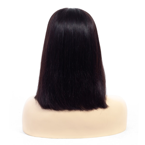 150% Yoğunluk Dantel Ön İnsan Saç Peruk Bebek Saç Ile Brezilyalı İnsan Remy Saç 10