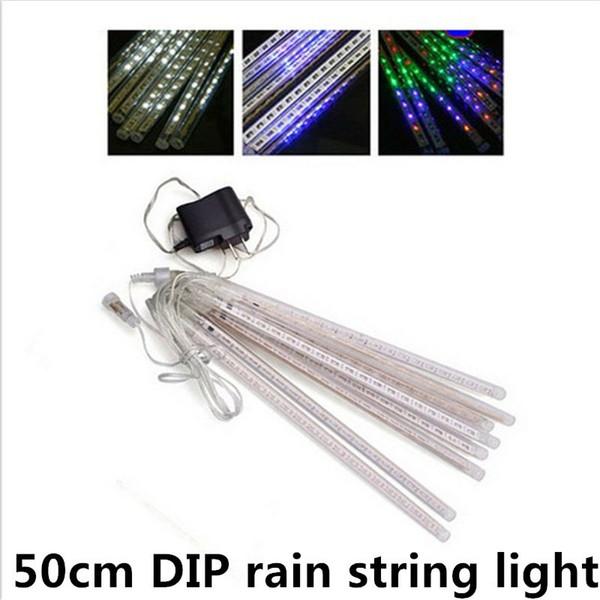 waterproof 50cm meter shower rain 8 tubes led christmas string lights AC110V-220V EU/US plug for wedding garden lighting