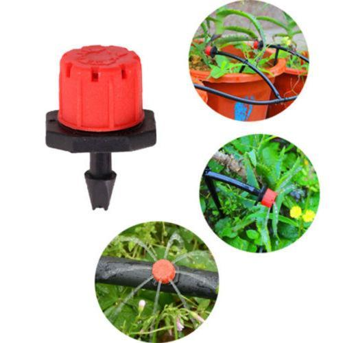 Wholesale Adjustable Micro Flow Drip Head Barb Irrigation Watering Dripper Sprinkler Flower Pots Greenhouse Tools Garden Decor Free Shipping