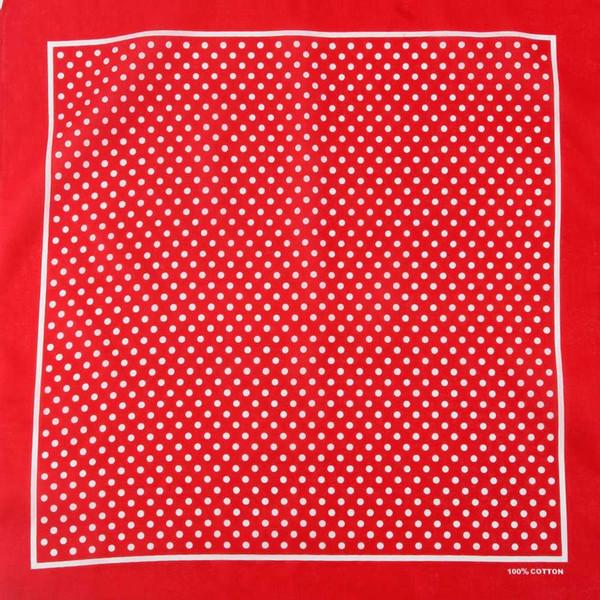Trasporto libero 2017 nuovo cotone nero di Hip Hop Bandane bianche del puntino di Polka / sciarpa della fascia dei capelli delle donne degli uomini
