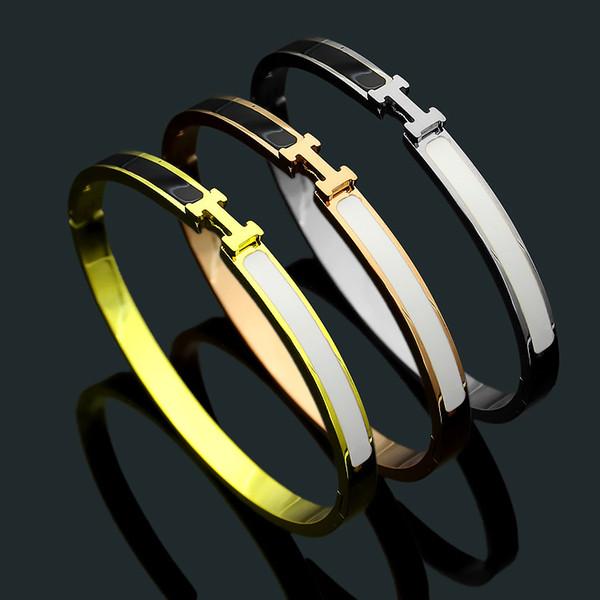2019 Titanyum çelik takı toptan bilezik 18 K gül altın Bayan bilezik dış ticaret bilezik ücretsiz kargo