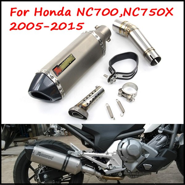 Motorcycle Exhaust System Slip on Middle Link Pipe For Honda NC700 NC750X NC700S