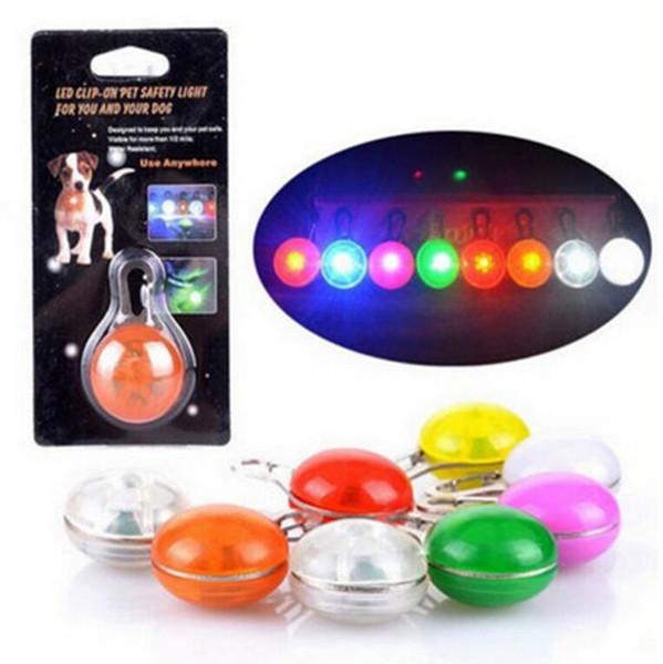 Chien Welpen liefert Pet LED-Licht Anhänger Hund Katze Welpen Nacht Sicherheitslicht Anhänger Hund Katze Kragen LED Anhänger Pet Supplies