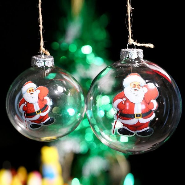4pcs/lot ,Christms Tree Decoration Supplier / Father Christmas Carry Gift Bag/ Xmas Ornament Glass Ball Event Party Outdoor Indoor decor