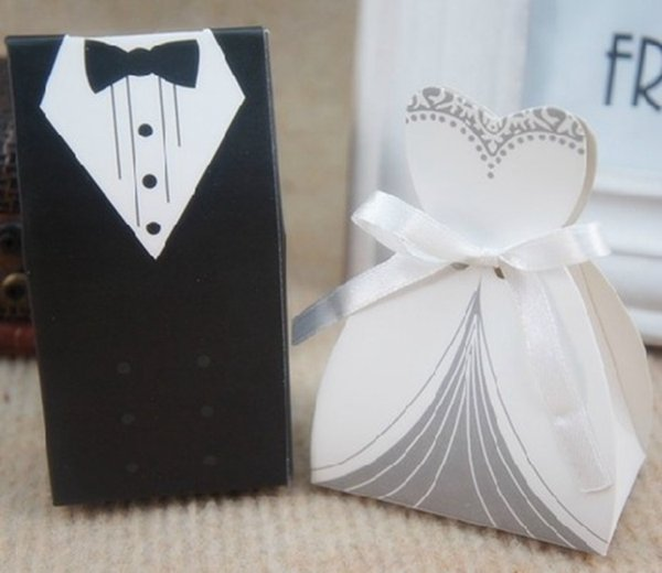 2018 Free Shipping+New Arrival bride and groom box wedding boxes favour boxes wedding favors