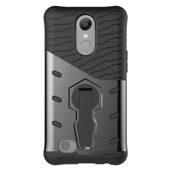 Sniper Robô Híbrido Armadura ShockProof 360 Kickstand Voltar Macio Caso de telefone celular Tampa para LG K10 (2017)