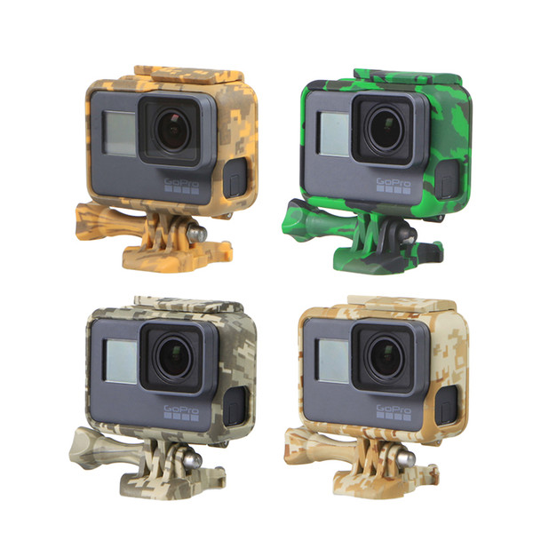 Protection Case For Gopro Hero 5 6 Go Pro 5 6 Camouflage Skeletons Frames Hard Bag With Protect FilmFor Gopro Accessories