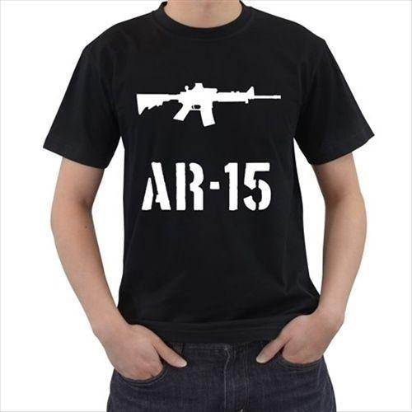 2018 Ar15 Gun Riffle Mens Wholesale Discount Tshirt Tee T Shirt S M L Xl 2xl 3xl Men Funny O Neck Short Sleeve Cotton T Shirt