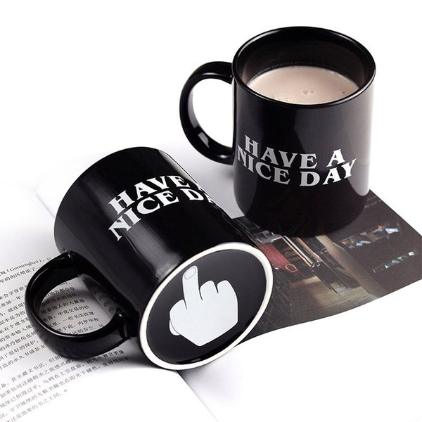 Creative Have A Nice Day Coffee Mug 350ml Funny Middle Finger Mugs For Coffee Tea Milk Novelty Birthday Gifts Free shipping