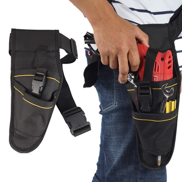 600D Oxford Canvas Tool Bag Electric Drill Holder Waist Bag Electrician Toolkit Load Bearing 10KG