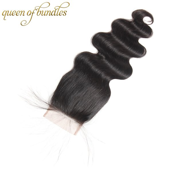 Brazilian Body Wave Closure 4x4 Human Hair Lace Closure Free Part ,middle part and three part Natural Color Remy Hair Closure 8-22 Inch