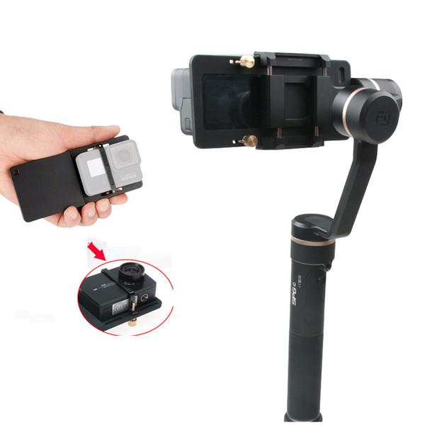 Smooth Q Action Camera Adapter for GoPro 6/5/4,SJCAM SJ7,xiaoyi,Switch Mount Plate for Zhiyun Gimbal DJI Feiyu Vimble 2