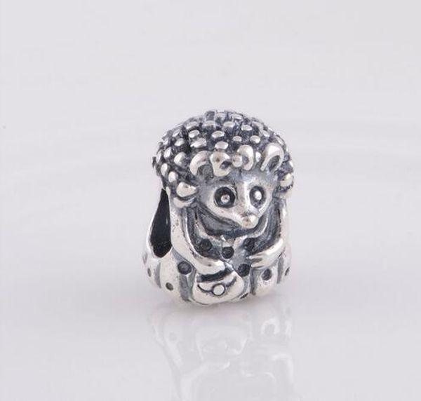 925 Sterling Silver Miss Hedgehog Screw Thread Distanziatore Charm Bead, adatto per gioielli braccialetto Pandora DIY LW286