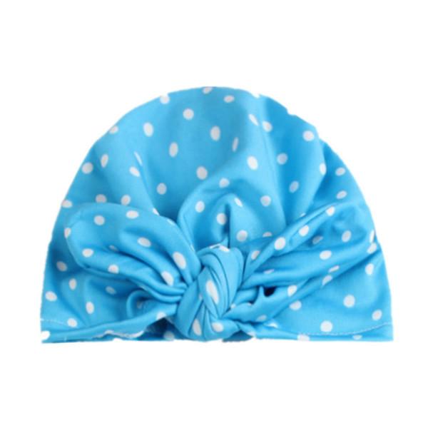 on sale 1pcs 2018 New Knitting Dots Rabbit Ear Hat Bows Cap Bohemia India turban Hats Knot Beanies Photography Props photo Gorro