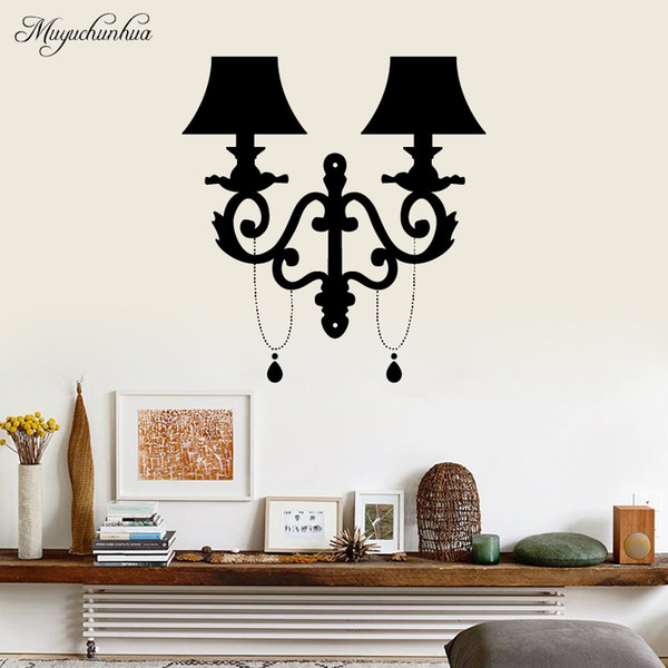 Muyuchunhua Bedside Lamp Modern Fashion Wall Sticker For Home Decor Bedroom Home Decoration Accessories Wall Art Decal Wall Decals Kids Wall Decals