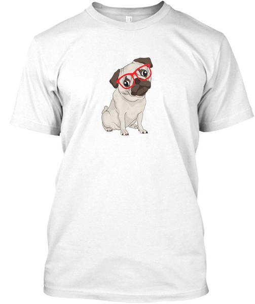 Тенденции Битник мопсы футболка Élégant футболка мужчины классический белый с коротким рукавом пользовательские плюс размер пара Camiseta