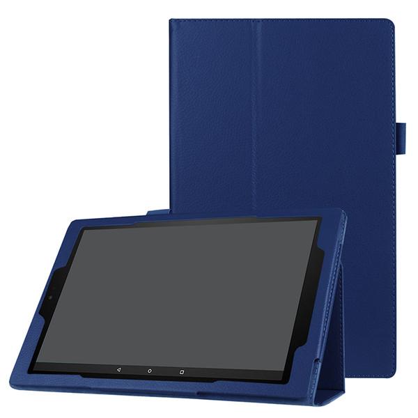 Caso di vibrazione del cuoio del litchi della copertura per Amazon Kindle Fuoco HD da 10 pollici 2017 Tablet stand Casi Tri-pieghevoli