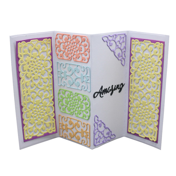 DIY Fold Lace Screen Set Metal Cutting Dies For Scrapbooking Embossing Photo Paper Decor Stencils Stamps 2018 New Template