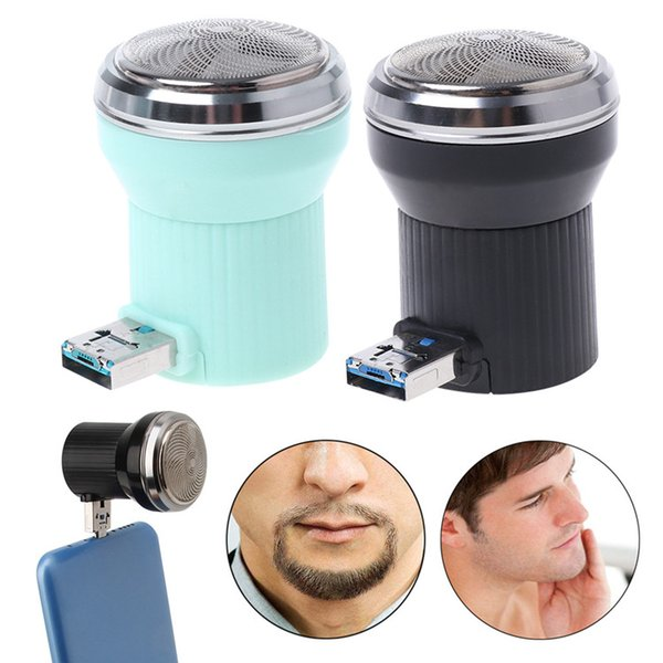 Creative Men Washable Electric Shaver 3.6W Mini Portable USB Charging Travel Beard Trimmer Razor Suitable For Carrying in a Pocket.