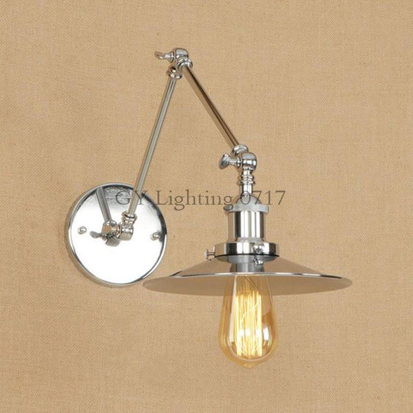 High Quality Wall Lamps Sconce Loft Chrome Plated Bathroom Light Modern Metal Wall Lamp Bedroom Bedside Sconces Dream Master