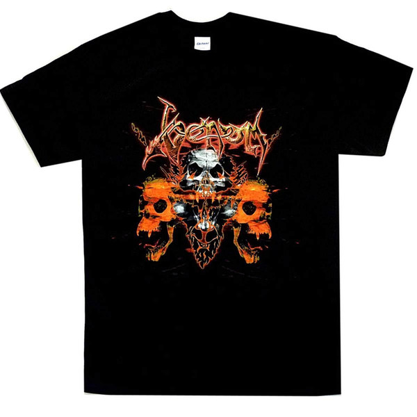 Venom Skulls Shirt S-3XL Black Metal T-Shirt Official Band Tshirt New Pre-Cotton T Shirt for Men Basic Models Fashion