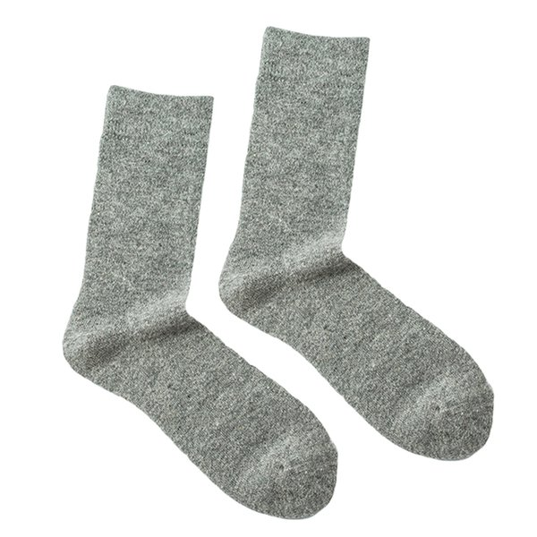 3 Pairs Casual Solid Color Men Warm Autumn Winter Wool Thick Long Socks