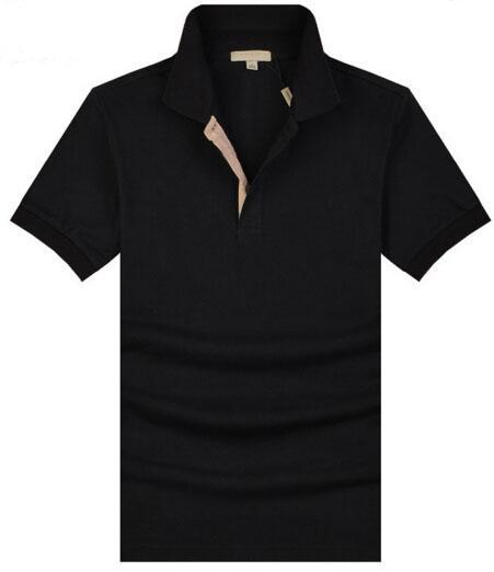 Check Men Casual Polo Shirt Short Sleeve Horse Embroidery London brit Polo Shirts Turn-down Collar Homme Camisa Polos Masculina
