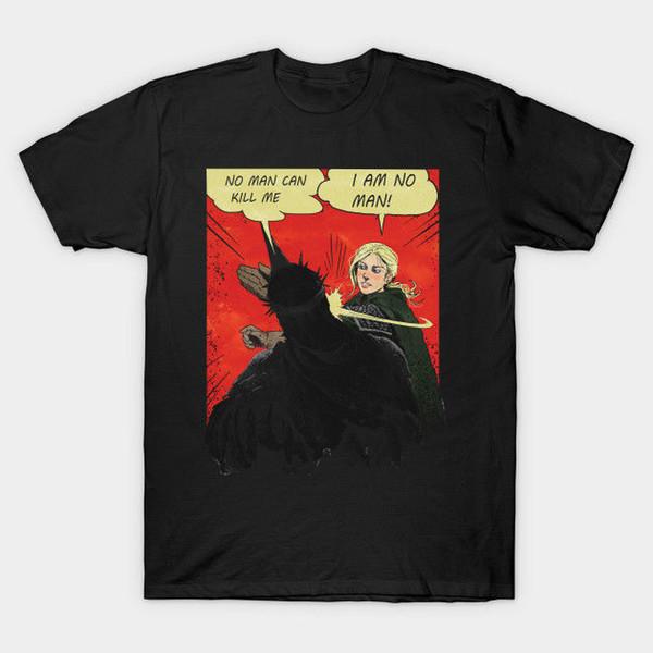 Ich bin kein Mann-Schwarz-T-Shirt T-Shirts S-2XL