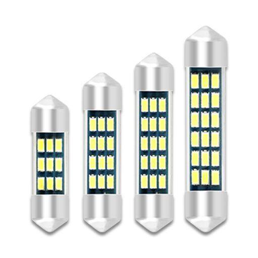 1 Unidades de Luz Suave Lámpara LED para Coche C5W C10W Lámpara de Luz Interior de Cúpula LED Para Coche Adorno 31mm 36mm 39mm 41mm 3014 12v Auto