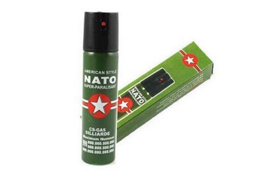 Hot Sell NEW 2PCS/Lot NATO CS-GAS 60ML TEAR GAS PEPPER Perfume SPRAY sex maniac Men Women Security self-defense Free shipping
