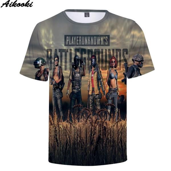 a65ba10e3d3542 Aikooki hohe qualität 3D T-shirt Männer Sommer Neue T-shirt 3D Volle Spiel