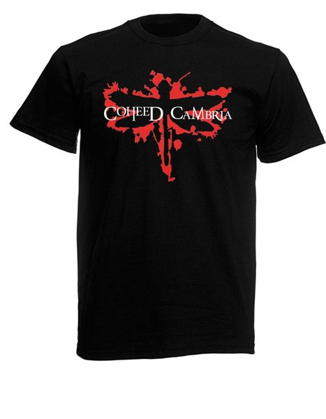 Coheed and Cambria Dragonfly Mens Unisex Black Rock T-shirt NEW Sizes S-XXXL Funny free shipping Unisex Casual tee gift