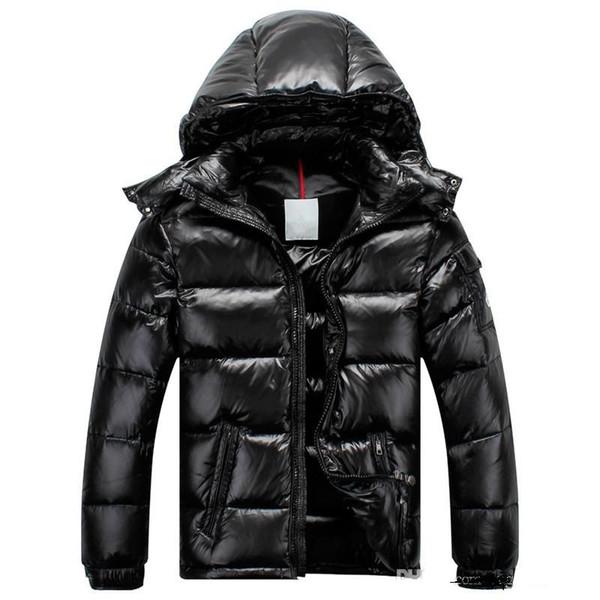 Fransa Erkekler Homme Aşağı Ceket MAYA Kaz tüyü Mont Erkek Açık Kapşonlu Yaka Sıcak Tüy Homme Kış Ceket Dış Giyim Ceketler Parka