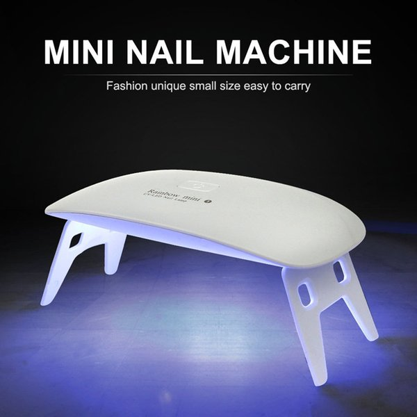 2018 New Arrival White 6W MINI UV Led Lamp Nail Dryer For Gel Polish USB Cable UV Lamp Manicure Led For Fingers Toenails