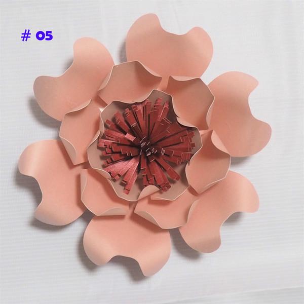 Últimas Flores de Papel Gigantes Rosa Artificial DIY Papel Grande Rose Boda Evento Telón de Fondo de Bebé Vivero con Video tutoriales 1 UNID
