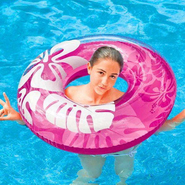 Galleggiante gonfiabile di nuoto dello stagno di galleggiamento di galleggiamento di progettazione del fiore dell'anello di nuoto del tubo di nuotata alla moda per le donne