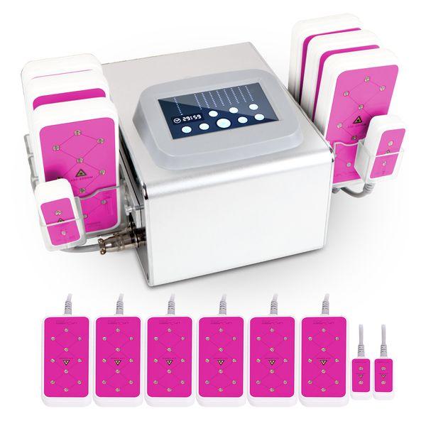 Novo 635nm-650NM Lipo Laser 5MW Lipo Laser máquina de emagrecimento 6big 2 pequenas almofadas 320MW