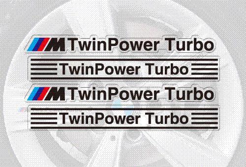 Aliauto Car-styling /// M TwinPower Turbo Car Rims Sticker y Calcomanía Ruedas Accesorios para Bmw X1 X3 X4 X5 X6 M1 M2 M3