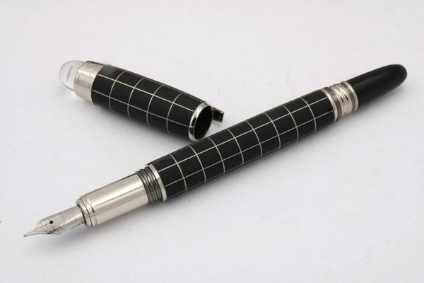 best selling Crystal Head carbon fiber BLACK offiice new line Lacquerred Fountain Pen