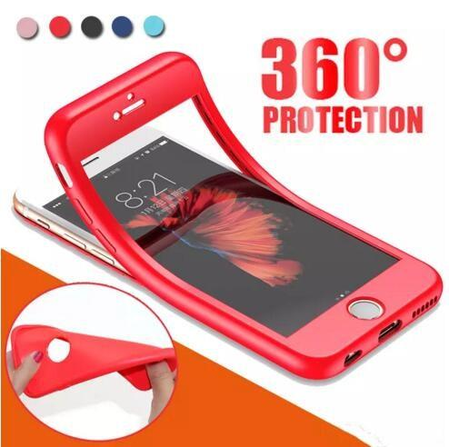 360-Grad-Abdeckung Ganzkörper-weicher TPU-Handy-Fall für iPhone X 8 7 6 6S plus stoßsicherer Anti-Schock ultra dünne Fall-Abdeckung DHL