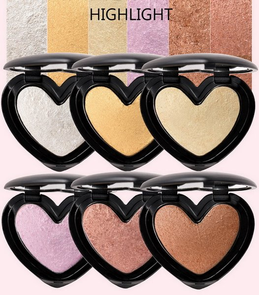 HANDAIYAN Makeup Bronzers And Highlighter Face Contour Power 6 Color Shimmer Brighten Illuminated Mineralize Skinfinish Powder