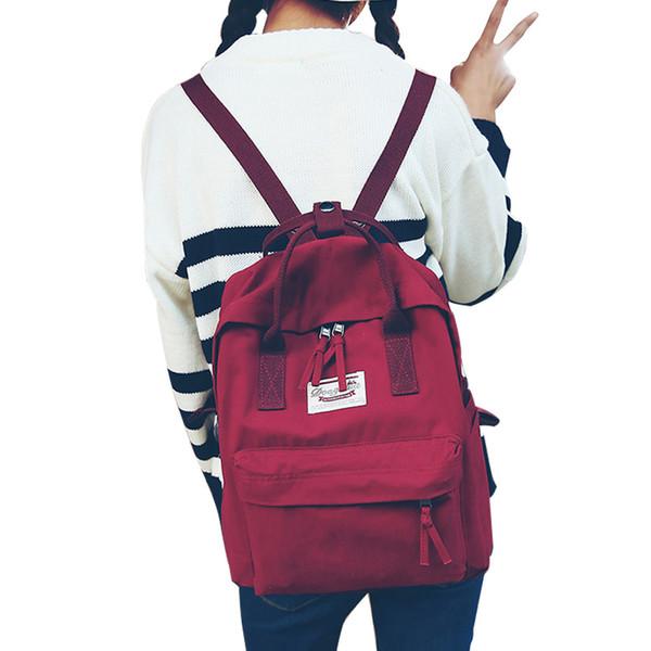 High quality Women Backpack Teenage girls Leisure bag Vintage Stylish School Bag Canvas Backpack Female Bookbag Mochila