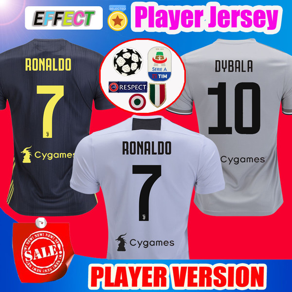 6a9ee21a8 Top Thailand Player Version 2018 RONALDO JUVENTUS Soccer Jerseys 18 19 JUVE  Home 2019 DYBALA PJANIC Camisetas de Futbol Football Shirts