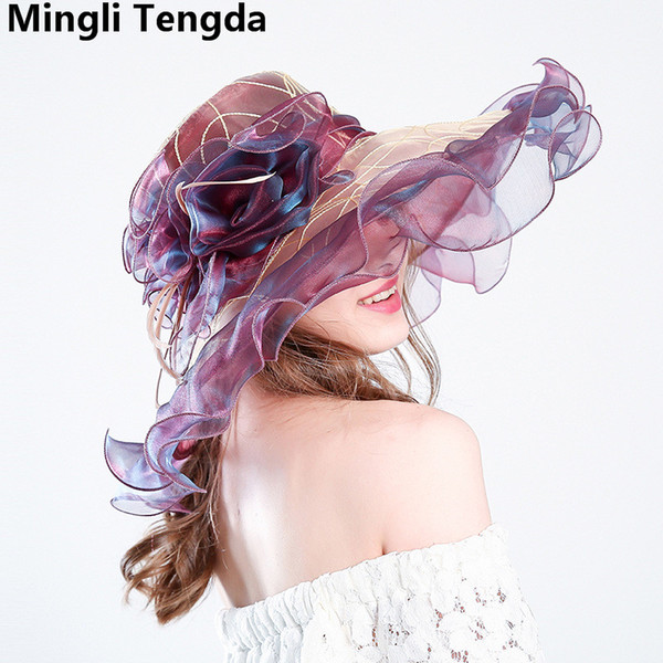 New Elegant Organza Wedding Hats and Fascinators Bridal Hats for Women party Wedding Accessories chapeau femme mariage Mingli Tengda 2018