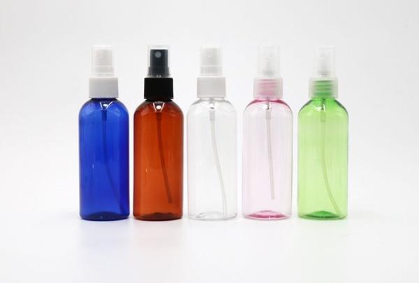 Botella de perfume vacía del ANIMAL DOMÉSTICO 60ml con la bomba de espray anodizada de aluminio Paleta redonda cosmética plástica del envase de la botella líquida zzh