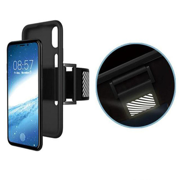 Sport Armband Running Case CellPhone Running Bag workout Arm Band Holder Pounch Bag for iphone X 8 7 6 plus Oneplus5 Retail package