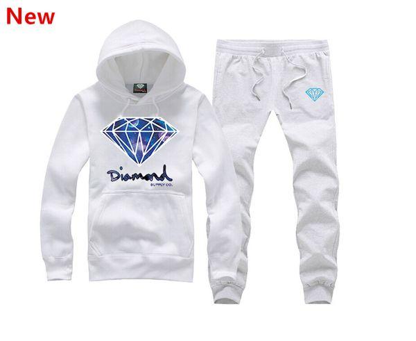 New Diamond Supply sweat suit Autumn sportswear sport men clothes track suits tracksuits male sweatshirts +Pants Plus Size 3XL X05