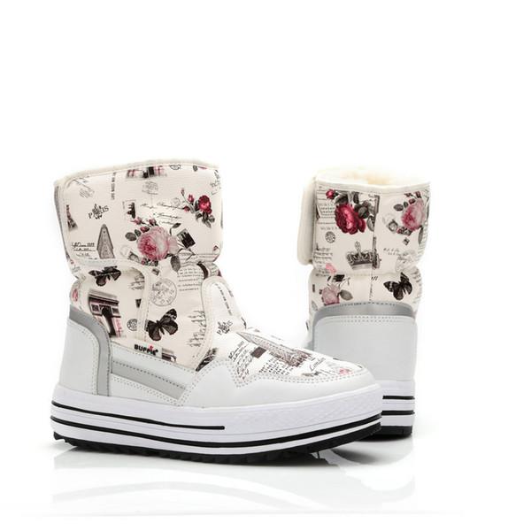 19c5e82075f8c Boots woman shoes winter female warm fur water-resistant upper plus size  fashion non-