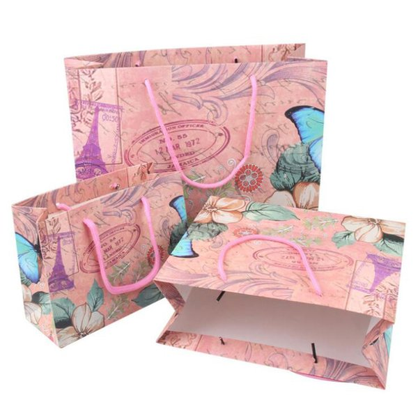 Boutique Shopping Paper Bags with Handle Fashion Jewelry Clothes Accessories Crafts Gift Packaging Carrying Bags Printing