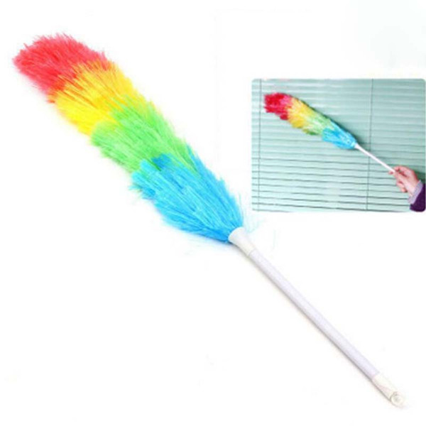 Microfiber Dust Multicolor Feather Duster Anti Static with Long Handle Feather Brush Car Cleaner Household Cleaning Tools